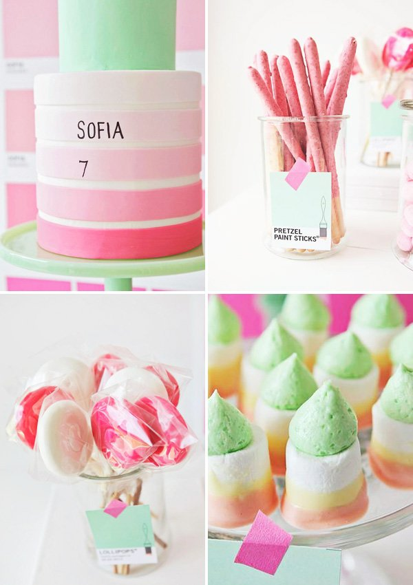 Pink Ombre Stripe Cake