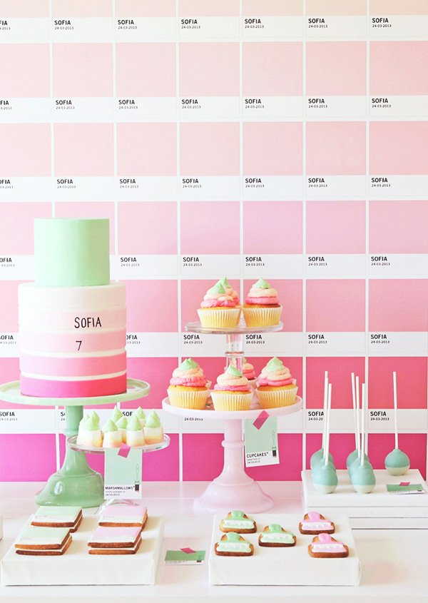 Pink Pantone Inspired Dessert Table
