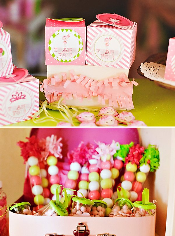 pink party candy