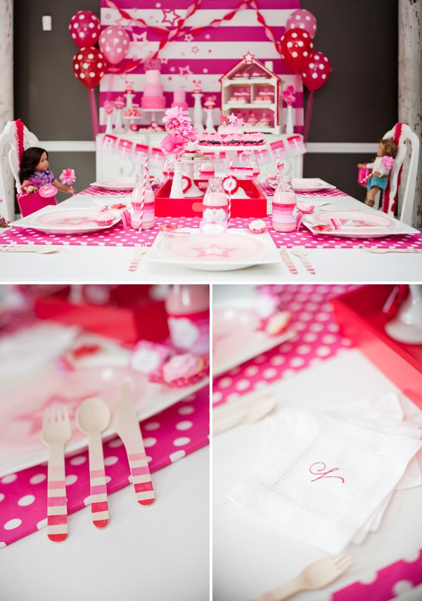Pink Polka Dot Kids Table