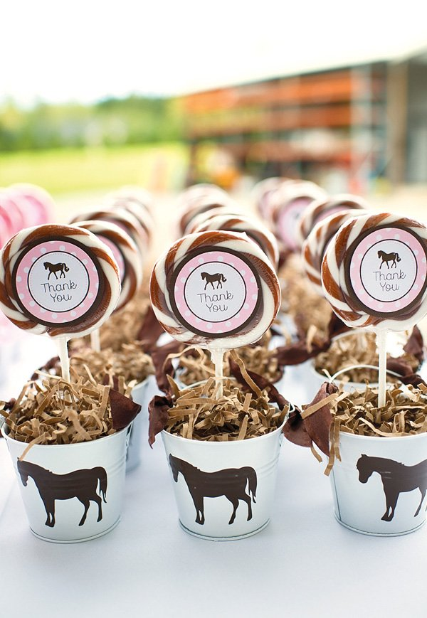 pink pony favors