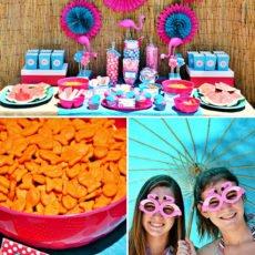 Pink Flamingo Pool Party
