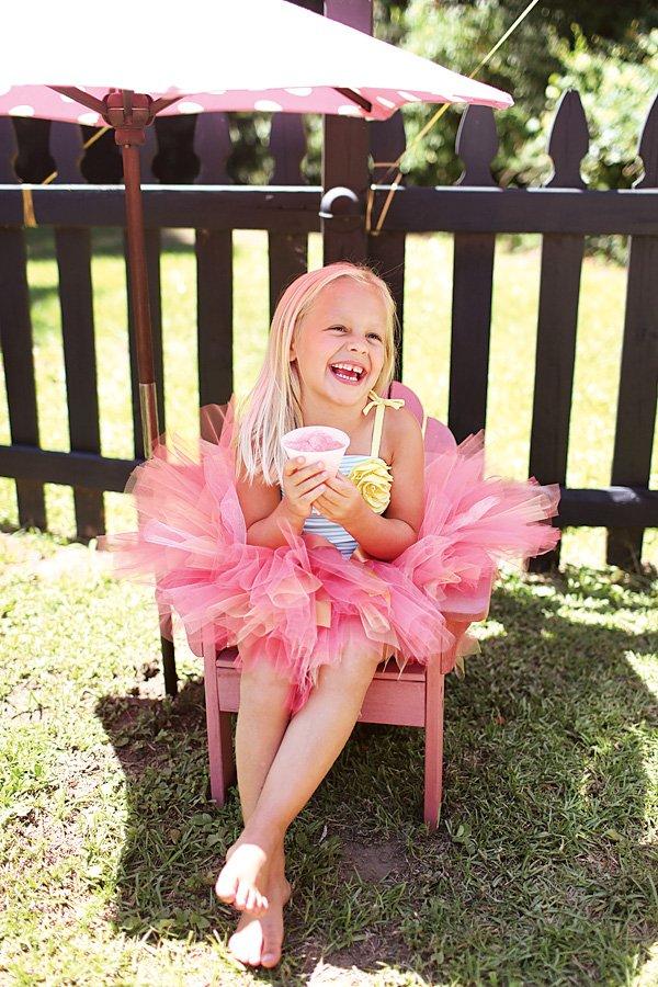 Cute Birthday Girl with Pink Tutu