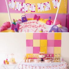 Pink and Yellow Geometric Birthday Party
