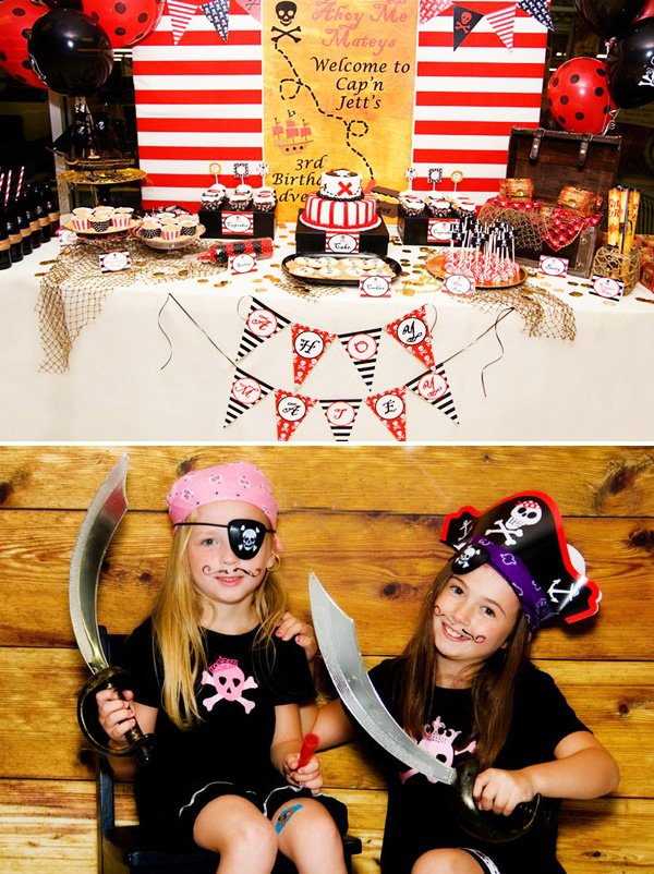 pirate dessert table