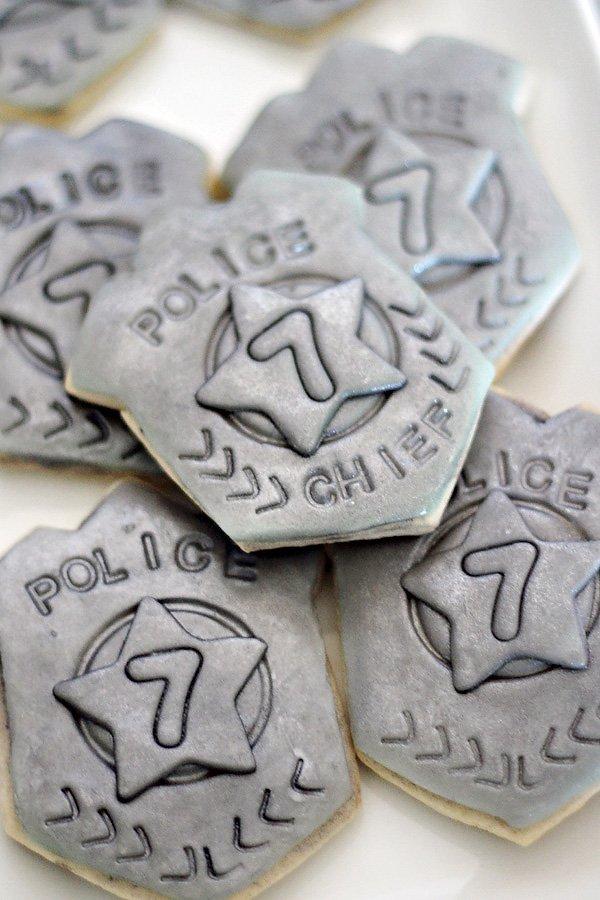 Police Badge Cookies