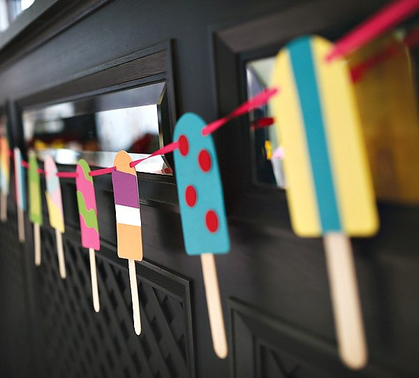Popsicle Stick Garland