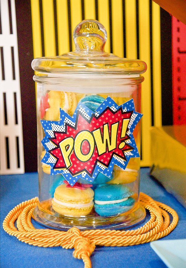 comic inspired wonder woman birthday party