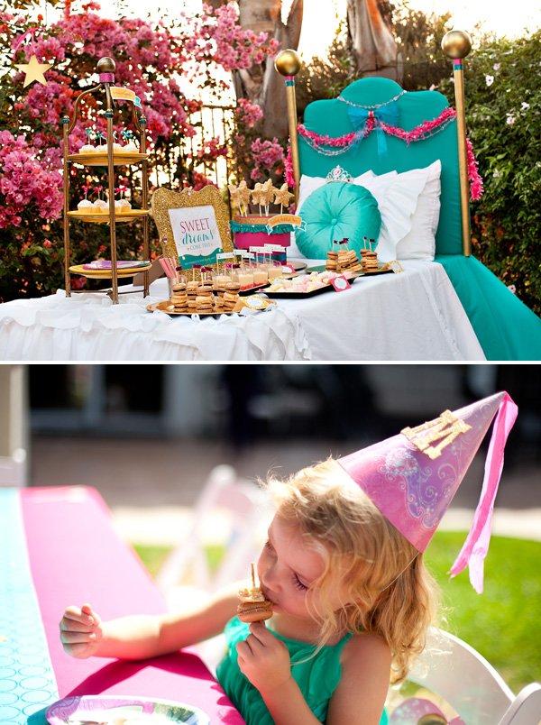 HWTM Princess Party Dessert Table