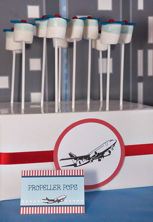 Propeller Marshmallow Pops