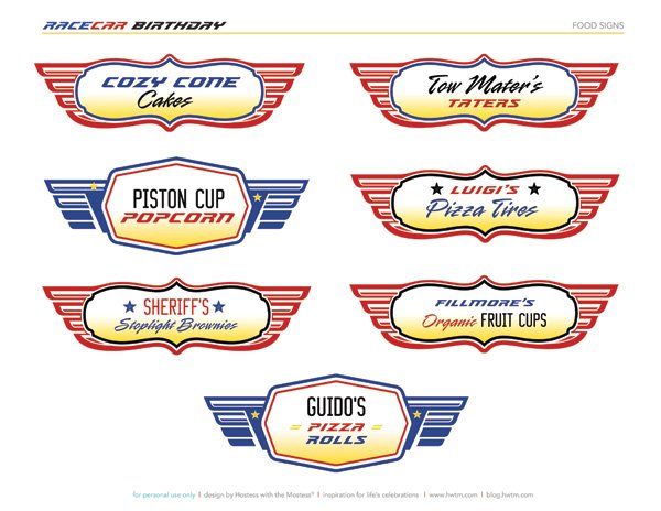 FREE Printables: Disney Pixar Cars Birthday Party // Hostess with ...