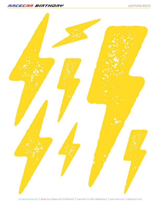 Free printable lightning bolts