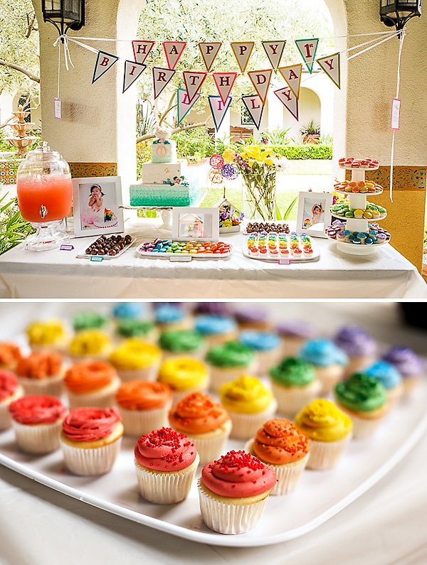 rainbow-dessert-table