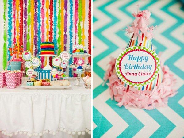 Rainbow Snow Cone Birthday Party