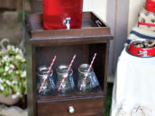 Red and Brown Drink Station