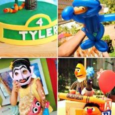 Cookie Monster Balloon Animal