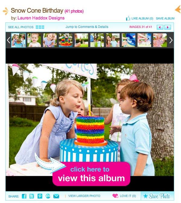 Snow Cone Birthday Party Ideas
