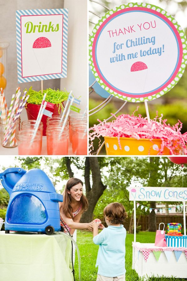 Snow Cone Themed Birthday Party