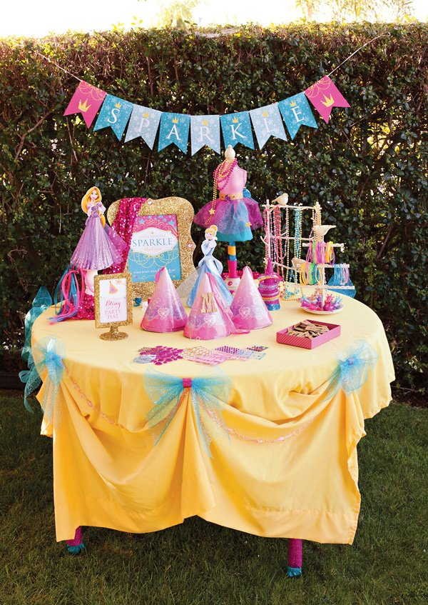 princess party activity - disney princess dress up station