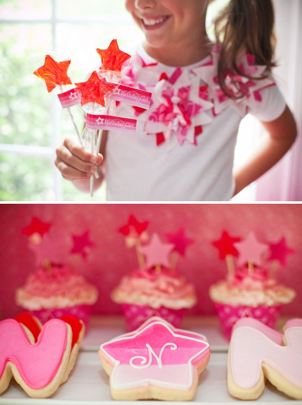 Star & monogram birthday cookies