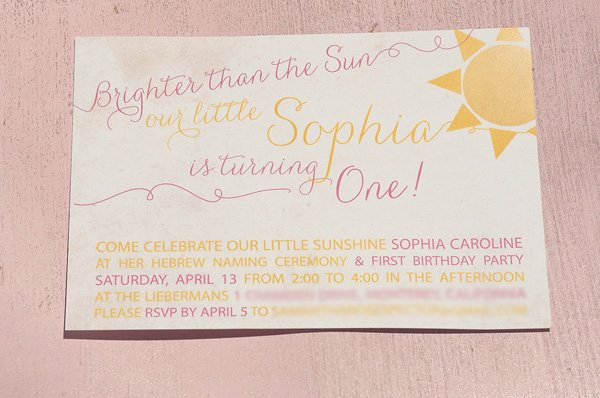sunshine invitation