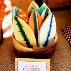 surf board sugar cookies