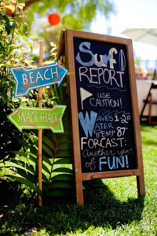 vintage surf theme party