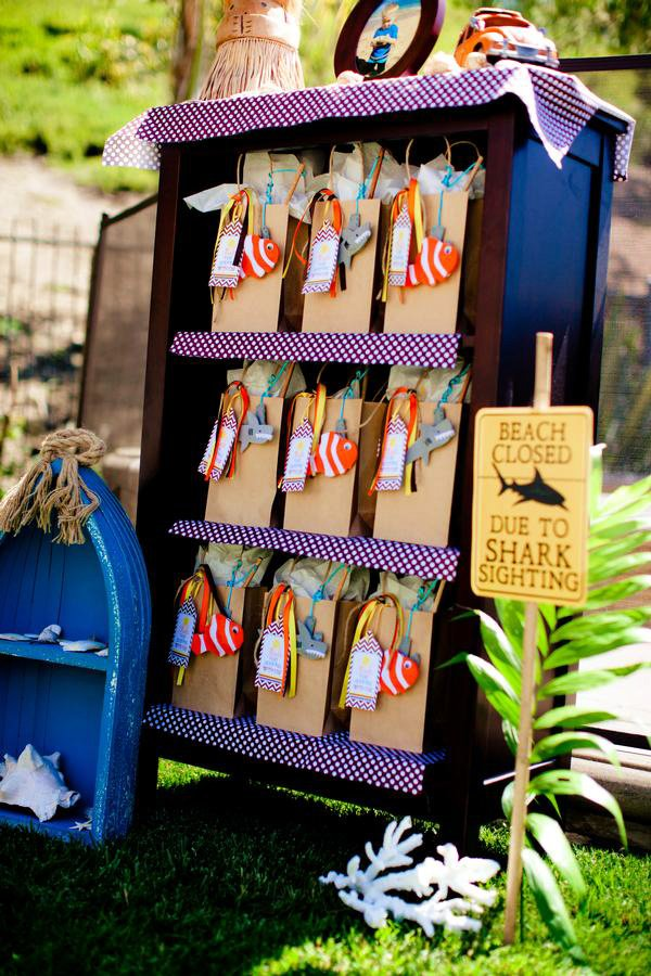 surf party favor bags