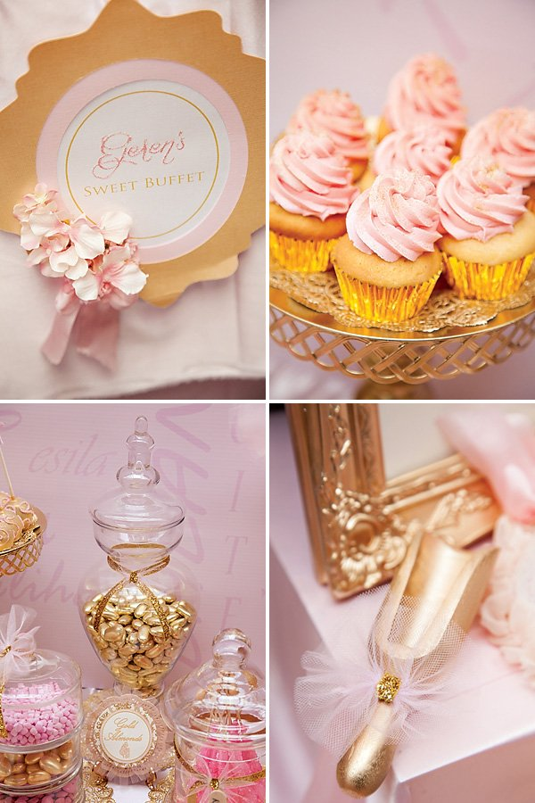 Pink amp Gold Ballerina Party 4th Birthday Hostess With