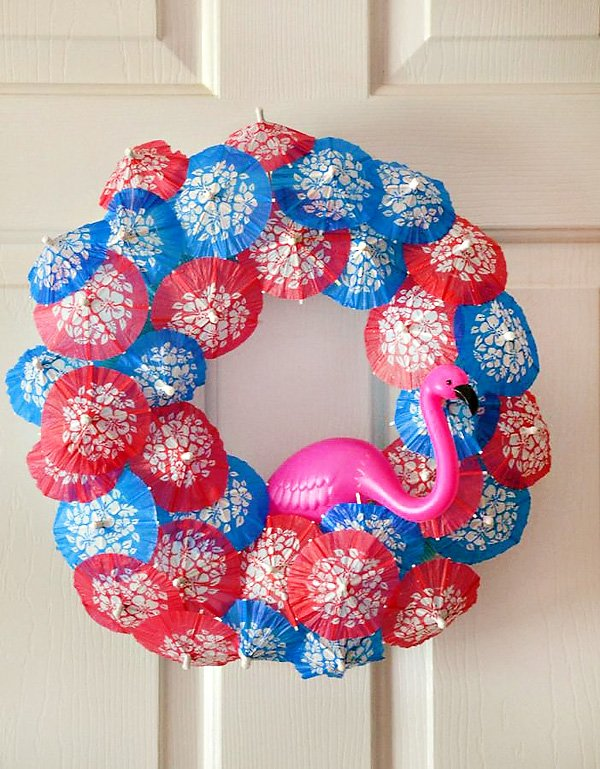 Umbrella Drink Stirrer Welcome Wreath