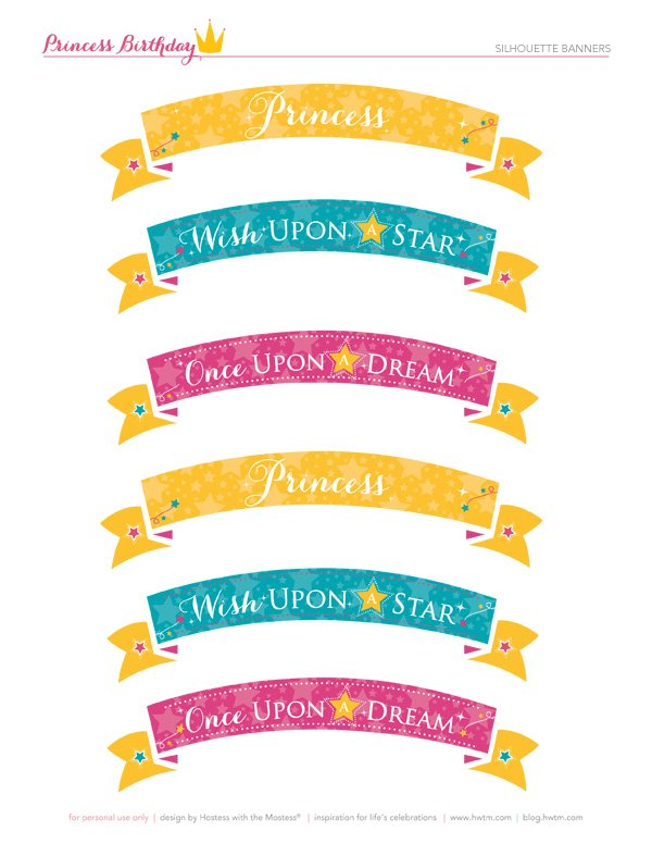 wish upon a star free princess printables
