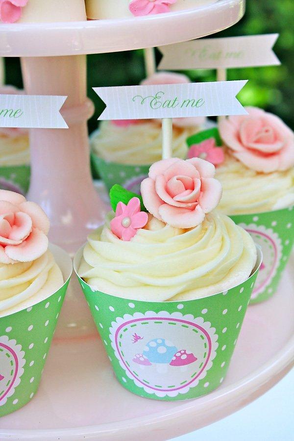 girly woodland cupcakes