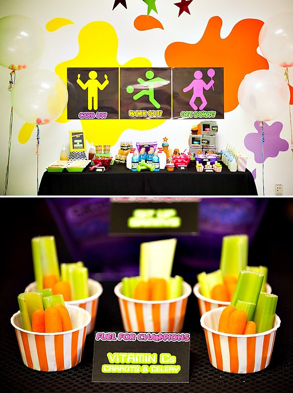 work out themed birthday party