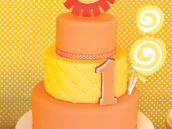 yellow and orange cake
