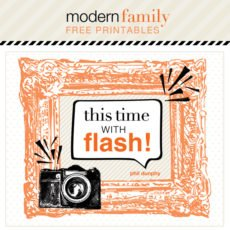 modern family free printables