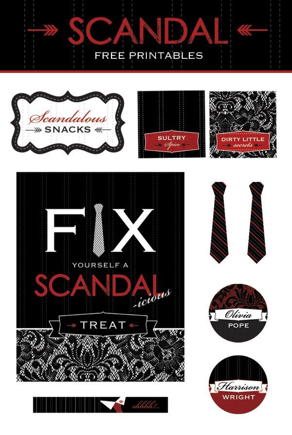 scandal free printables