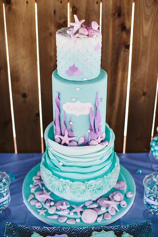 amazing ombre mermaid cake