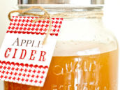 apple cider in a mason jar