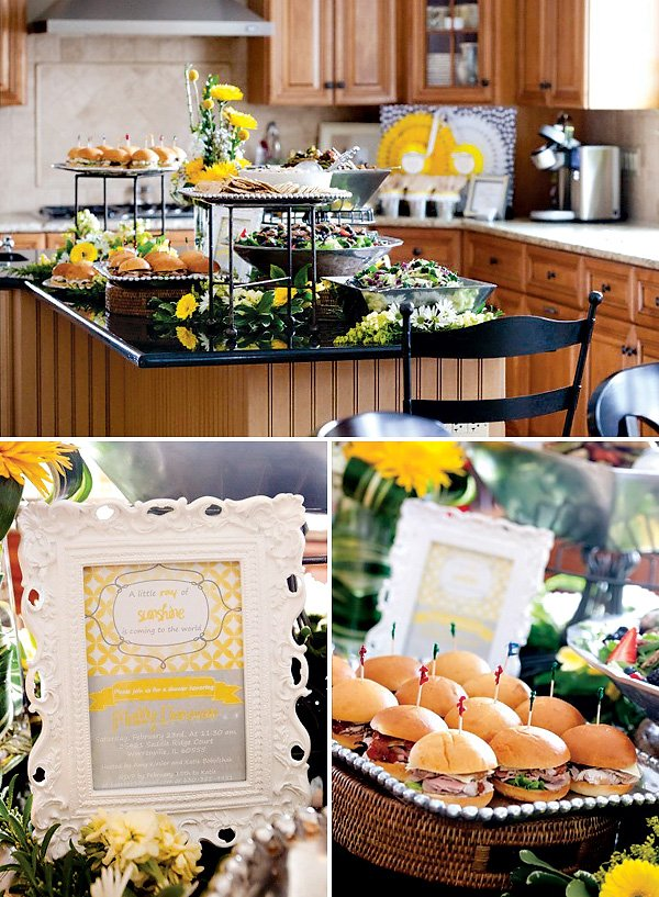 baby shower buffet