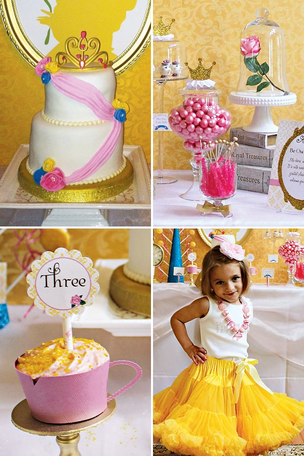 Princess Belle Decorations Best Princess Belle Inspired Beauty And The Beast Party  Hostess With Review