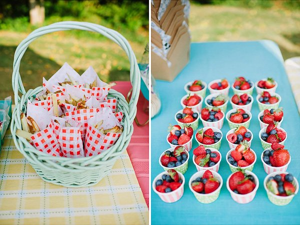 Patterned Berry Cups