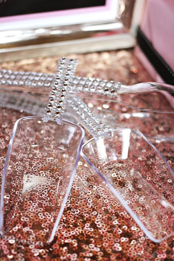 what is a girly candy table without a little bling these fabulous bling tongs scoops from talias creative printing adds just that bit of sparkle