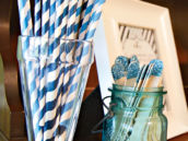 blue stripe straws