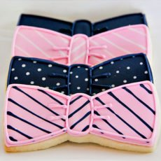 bow tie cookies for a preppy birthday party