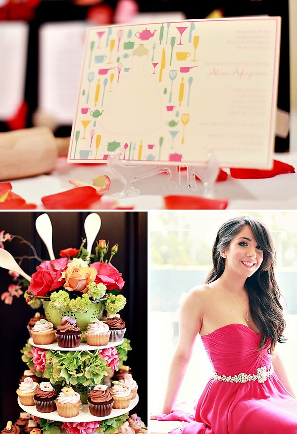 bridal shower inspiration with a kitchen theme