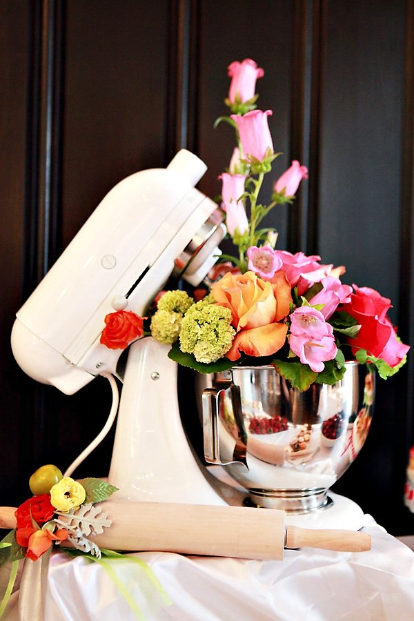 creative kitchen themed bridal shower hostess with the