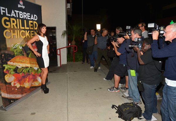 Cheryl Burke arriving at Wendy's Watch Party