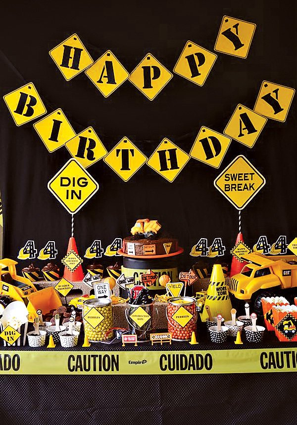 construction themed dessert table