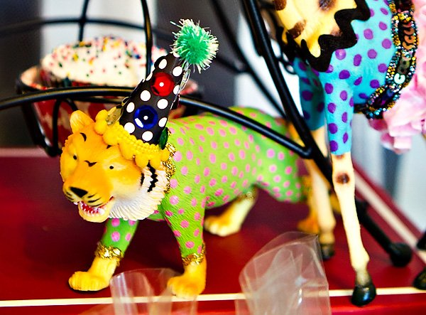 decorated party tiger