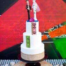 Dia De Los Muertos Inspired Cake